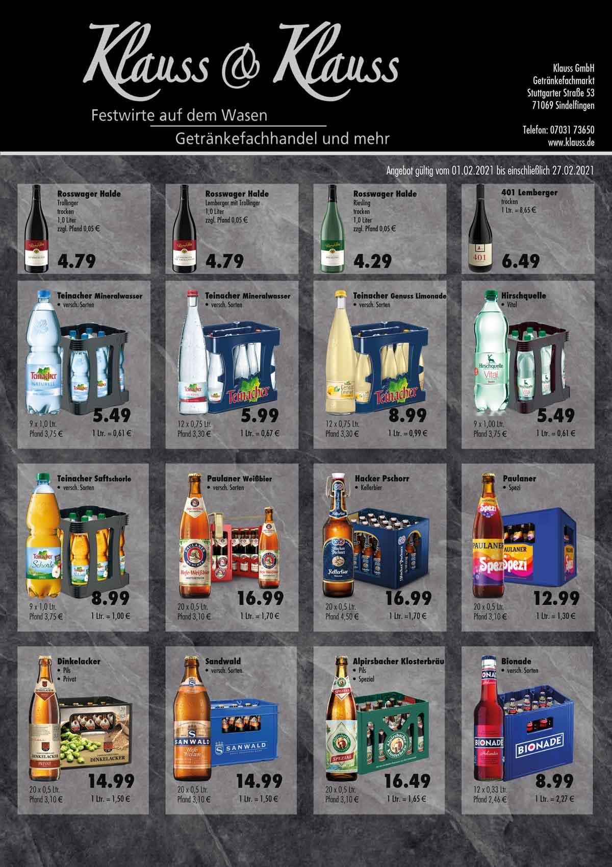 Angebot Februar Getränkemarkt
